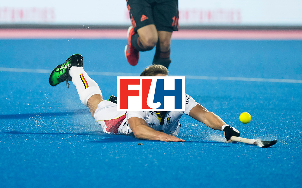 BHUBANESWAR - Victor Wegnez (Bel)   tijdens de Hockey World League Final wedstrijd Belgie-Nederland (3-0).   COPYRIGHT KOEN SUYK