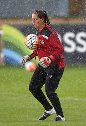 Caitlin Leach goalkeeper for Bristol City Women warms up in the rain - Mandatory by-line: Robbie Stephenson/JMP - 25/06/2016 - FOOTBALL - Stoke Gifford Stadium - Bristol, England - Bristol City Women v Oxford United Women - FA Women's Super League 2