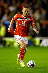 Kieron Morris of Walsall in action - Mandatory byline: Rogan Thomson/JMP - 07966 386802 - 23/09/2015 - FOOTBALL - Bescot Stadium - Walsall, England - Walsall v Chelsea - Capital One Cup.