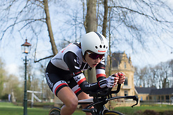 Juliette Labous (FRA) of Team Sunweb stays in an aero position during Stage 1a of the Healthy Ageing Tour - a 16.9 km time trial, starting and finishing in Leek on April 5, 2017, in Groeningen, Netherlands.