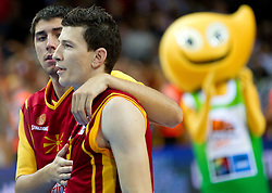 Vlado Ilievski of Macedonia after the basketball game between National basketball teams of Spain and F.Y.R. of Macedonia in Semifinals  of FIBA Europe Eurobasket Lithuania 2011, on September 16, 2011, in Arena Zalgirio, Kaunas, Lithuania. Spain defeated Macedonia 92-80.  (Photo by Vid Ponikvar / Sportida)