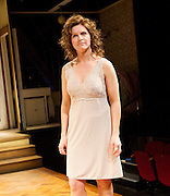 Frankie & Johnny <br /> in the Claire de Lune<br /> by Terrence McNally <br /> directed by Paulette Randall <br /> at the Minerva Theatre, Chichester, Great Britain <br /> press photocall<br /> 11th November 2014 <br /> <br /> Dervla Kirwan as Frankie<br /> <br /> <br /> <br /> Photograph by Elliott Franks <br /> Image licensed to Elliott Franks Photography Services