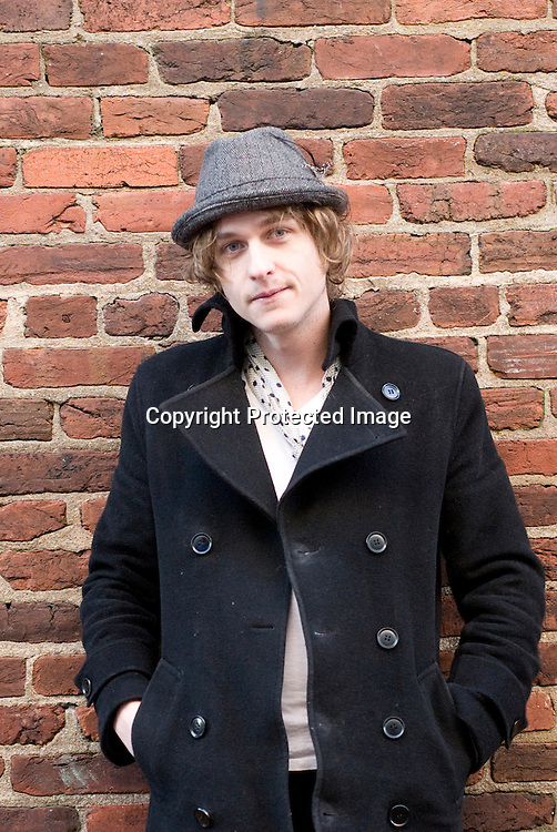 Vince Scheuerman, Lead Singer of the band Army of Me in Washington DC on U street on December 10, 2009. Photo by Kris Connor