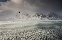 Wijdefjorden in April, Spitsbergen, Svalbard, Norway