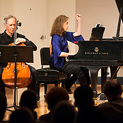 June 12, 2012 - New York, NY : Cellist Eric Bartlett, left, and pianist Margaret Kampmeier perform Paul Suits's 'Fantasy' (1984, rev. 2011) during the Institute & Festival for Contemporary Performance 2012 at the Mannes Concert Hall in Manhattan on Tuesday night. CREDIT: Karsten Moran for The New York Times