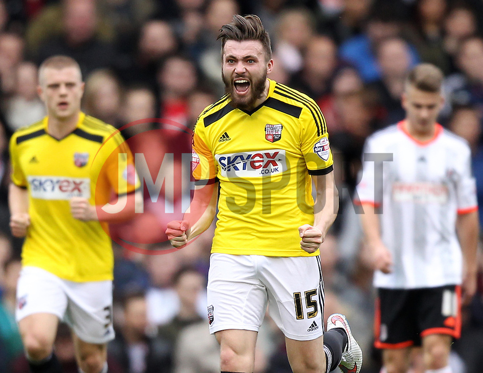 Brentford's Stuart Dallas celebrates - Photo mandatory by-line: Robbie Stephenson/JMP - Mobile: 07966 386802 - 03/04/2015 - SPORT - Football - Fulham - Craven Cottage - Fulham v Brentford - Sky Bet Championship