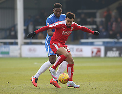 Nicky Ajose of Swindon Town in action with Ricardo Santos of Peterborough United. - Mandatory byline: Joe Dent/JMP - 27/02/2016 - FOOTBALL - ABAX Stadium - Peterborough, England - Peterborough United v Swindon Town - Sky Bet Championship