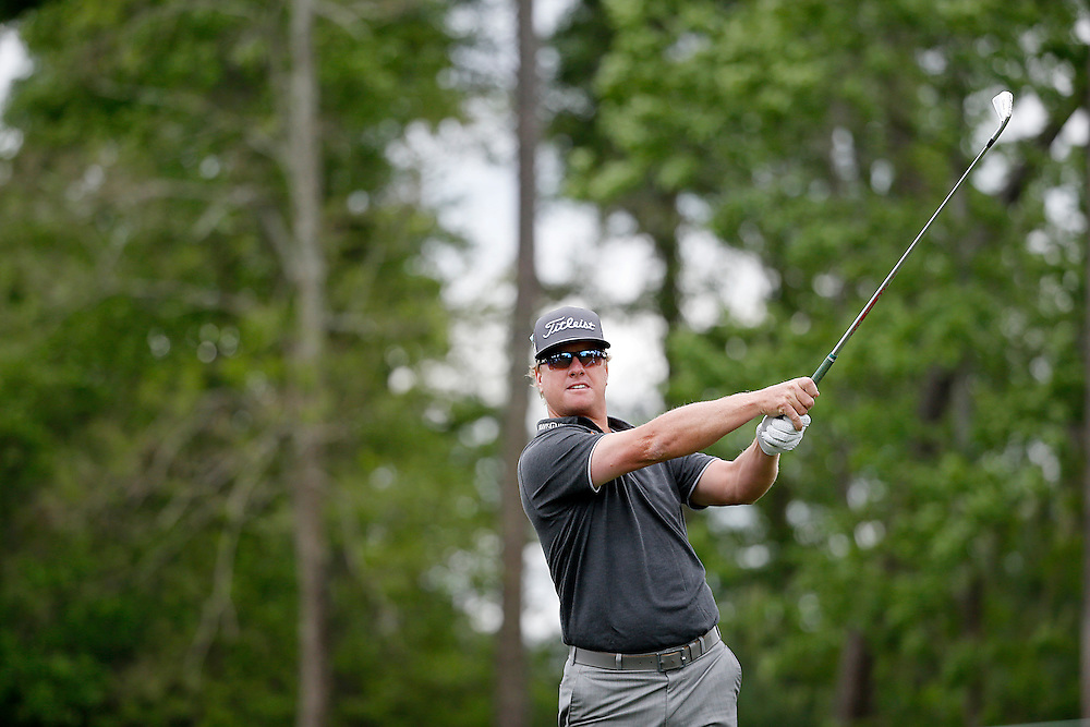 Charley Hoffman reacts after hitting his tee shot off of the 9th tee box during the second round of the Shell Houston Open golf tournament at the Golf Club of Houston on , Friday, April 1, 2016, in Humble, Texas.  (Photo: Thomas B. Shea/For the Chronicle)