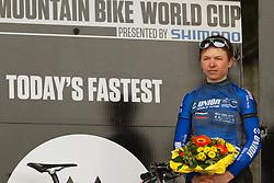MTB rider Tanja Zakelj of Slovenia at UCI Mountain Bike World Cup race, on May 18, 2013 in Albstadt, Germany. (Photo by Grega Stopar / Sportida.com)