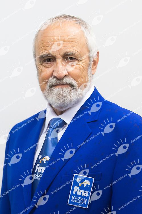 Michael GEISSBUEHLER<br /> High Diving - FINA Technical Committee<br /> 01/08/2015<br /> XVI FINA World Championships Aquatics Swimming<br /> Kazan Tatarstan RUS July 24 - Aug. 9 2015 <br /> Photo Giorgio Perottino/Deepbluemedia/Insidefoto