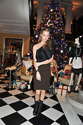 MARY CHARTERIS at the unveiling of the Claridge's Christmas tree 2011 designed by Alber Elbaz for Lanvin held at Claridge's, Brook Street, London on 5th December 2011.