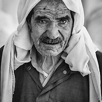 Old man in the Great Mosque of Aleppo