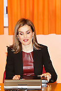 Queen Letizia of Spain attend a Meeting of the Board on Disability at ONCE's Educational Resource Center on February 25, 2015 in Madrid