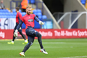 Bolton Wanderers goalkeeper Mark Howard (33) warms up before the EFL Sky Bet League 1 match between Bolton Wanderers and Bradford City at the Macron Stadium, Bolton, England on 24 September 2016. Photo by Simon Brady.