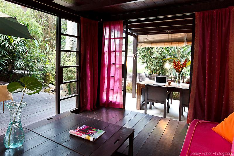 Living room of Villa Chai at T-House Villas, Ubud, Bali, Indonesia