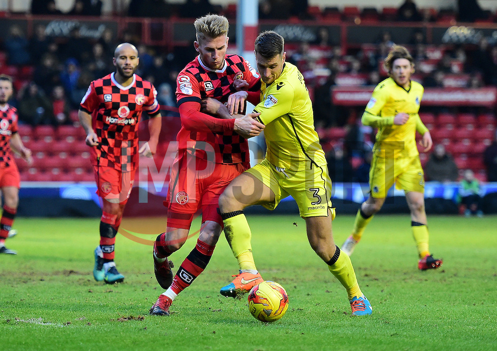 Lee Brown of Bristol Rovers battles for the ball with Jason McCarthy of Walsall - Mandatory by-line: Alex James/JMP - 21/01/2017 - FOOTBALL - Banks's Stadium - Walsall, England - Walsall v Bristol Rovers - Sky Bet League One