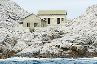 Historical Guano Houses on St Croix Island, Algoa Bay, Eastern Cape, South Africa