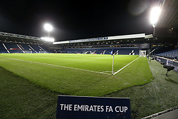 A general view of the The Hawthorns ground ahead of the match during the FA Cup fourth round replay match at The Hawthorns, West Bromwich.