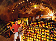 Schramsberg Winery Caves, Calistoga, Napa Valley, California.