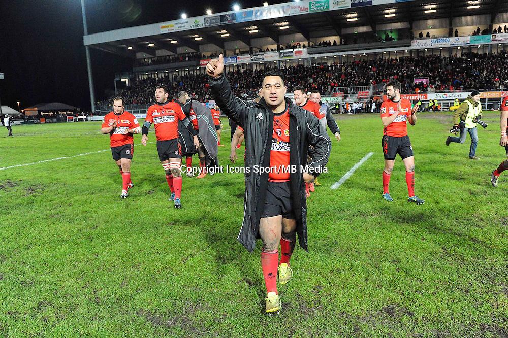 Joie Oyonnax - 06.03.2015 - Oyonnax / Toulouse - 19eme journee de Top 14<br />Photo : Jean Paul Thomas / Icon Sport