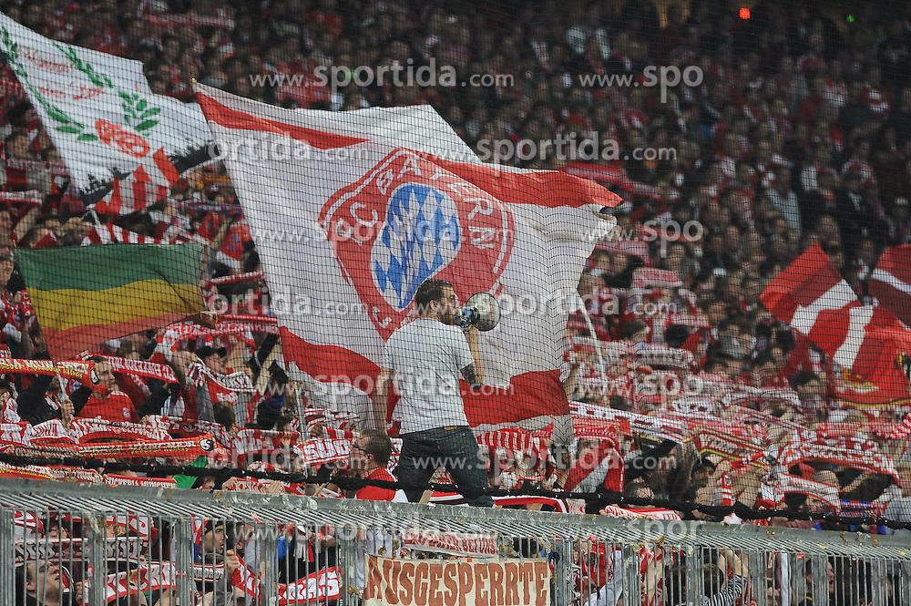 29.04.2014, Allianz Arena, Muenchen, GER, UEFA CL, FC Bayern Muenchen vs Real Madrid, Halbfinale, Ruckspiel, im Bild Der Faneinpeitscher in der Suedkurve. // during the UEFA Champions League Round of 4, 2nd Leg Match between FC Bayern Munich vs Real Madrid at the Allianz Arena in Muenchen, Germany on 2014/04/30. EXPA Pictures &copy; 2014, PhotoCredit: EXPA/ Eibner-Pressefoto/ Stuetzle<br /> <br /> *****ATTENTION - OUT of GER*****