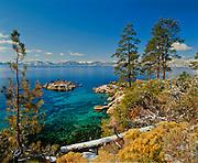 Lake Tahoe Scenic Spring Snowfall
