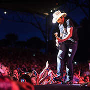 "BRISTOW, VA - June 29th, 2013 - Brad Paisley performs at Jiffy Lube Live in Bristow, VA as part of his Beat This Summer Tour. Paisley released his ninth studio album, Wheelhouse, earlier this year. The album features the singles ""Southern Comfort Zone"" and Beat This Summer."" (Photo by Kyle Gustafson/For The Washington Post)"