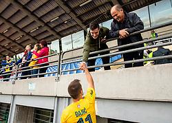 Milan Đajič of Bravo with fans after the football match between NK Bravo and NK Celje in 13th Round of Prva liga Telekom Slovenije 2019/20, on October 5, 2019 in ZAK stadium, Ljubljana, Slovenia. Photo by Vid Ponikvar / Sportida