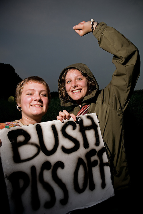 Protesters at the G8 summit in Germany 2007