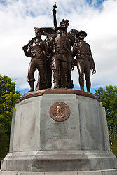 World War I memorial statue on the state capitol campus complex, Olympia, Washington, United States of America
