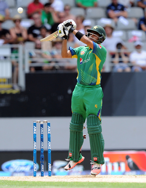 Pakistan's Babar Azam batting against New Zealand in the 3rd ODI International Cricket match at Eden Park, Auckland, New Zealand, Sunday, January 31, 2016. Credit:SNPA / Ross Setford