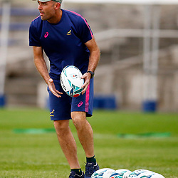TOKYO, JAPAN - OCTOBER 15: Jacques Nienaber (Defence Coach) of South Africa during the South African national rugby team training session at Fuchu Asahi Football Park on October 15, 2019 in Tokyo, Japan. (Photo by Steve Haag/Gallo Images)