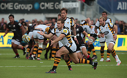 October 9, 2016 - Barnet, England, United Kingdom - Elliot Daly of Wasps RFC during Aviva Premiership match between Saracens and Wasps at Allianz Park on 9th October 2016  in Barnet, England. (Credit Image: © Kieran Galvin/NurPhoto via ZUMA Press)
