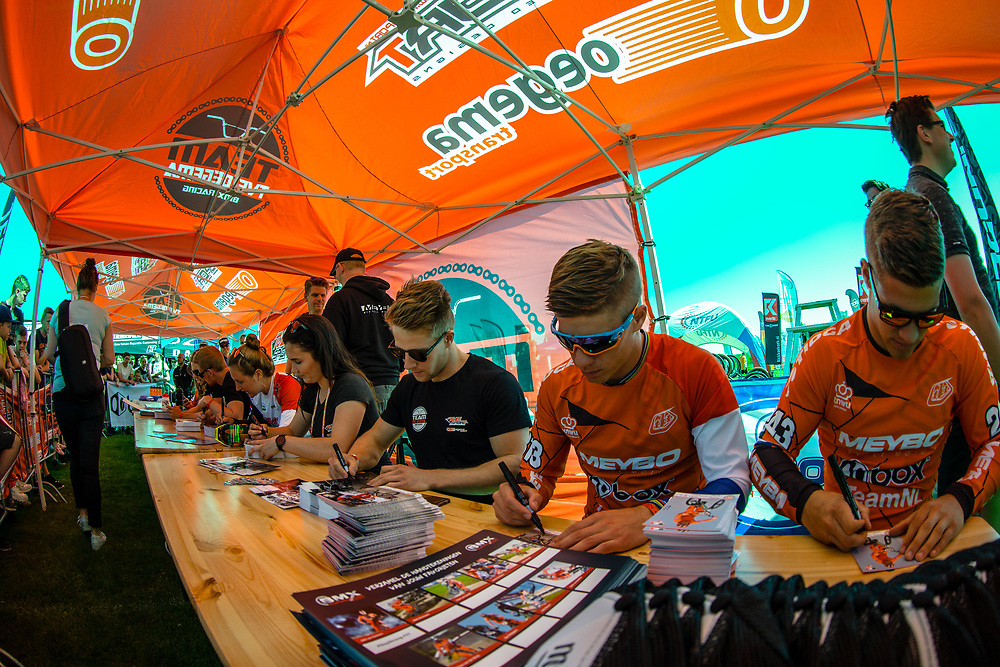 Autograph signing at Round 4 of the 2018 UCI BMX Superscross World Cup in Papendal, The Netherlands