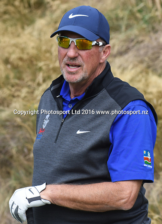Sir Ian Botham on the 15th during Round 3 at The Hills during 2016 BMW ISPS Handa New Zealand Open. Saturday 12 March 2016. Arrowtown, New Zealand. Copyright photo: Andrew Cornaga / www.photosport.nz