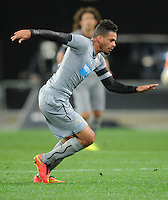 Newcastle United's Emmanuel Riviere against Sydney FC in the first match of the Football United Tour at Forsyth Barr Stadium, Dunedin, New Zealand, Tuesday, July 22, 2014.