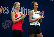 Angelique Kerber of Germany and Madison Keys of the United States during Arthur Ashe Kids Day at the 2018 US Open Grand Slam tennis tournament, New York, USA, August 25th 2018, Photo Rob Prange / SpainProSportsImages / DPPI / ProSportsImages / DPPI