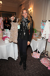 LAURA COMFORT at a shopping afternoon hosted by Amanda Kyme and Tamara Beckwith featuring designs from Elizabeth Hurley held at the Cadogan Hotel, 75 Sloane Street, London SW1 on 23rd November 2010.