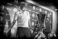 Massimiliano Allegri, Giorgio Chiellini Juventus <br /> Roma 16-05-2017 Stadio Olimpico <br /> Conferenza Stampa Finale Coppa Italia <br /> Press Conference Italy Cup Final <br /> Foto Andrea Staccioli / Insidefoto