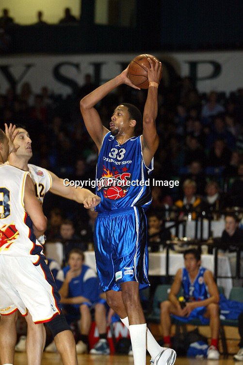 29th June 2002 at the Queens Wharf Events Centre in Wellington. Wellington Saints Kevin Brooks during their game against Palmerston North Jets.<br />