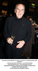 Comedian RUSS ABBOT at a party in London on 10th December 2003.PPM 409