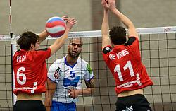 13-12-2014 NED: Prins VCV - Abiant Lycurgus, Veenendaal<br /> Lycurgus wint met 3-1 van VCV / Wouter Pilon, Gino Naarden