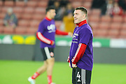 Sheffield United midfielder John Fleck (4) during the warm up ahead of the Premier League match between Sheffield United and Arsenal at Bramall Lane, Sheffield, England on 21 October 2019.