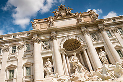Trevi Fountain or Fontana di Trevia  in Rome Italy