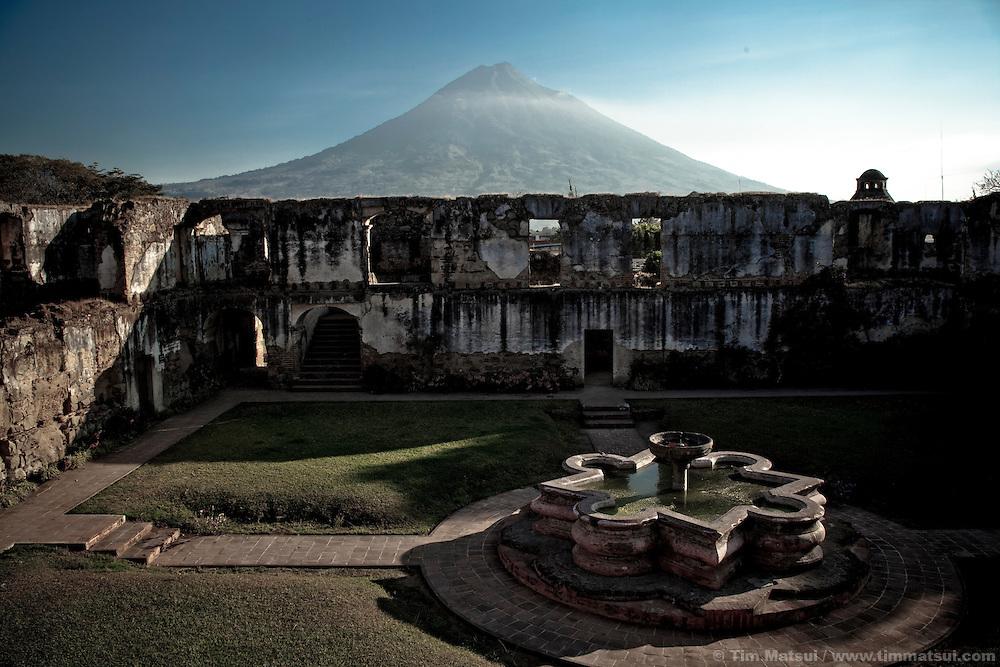 Agua volcano above Antigua, Guatemala.