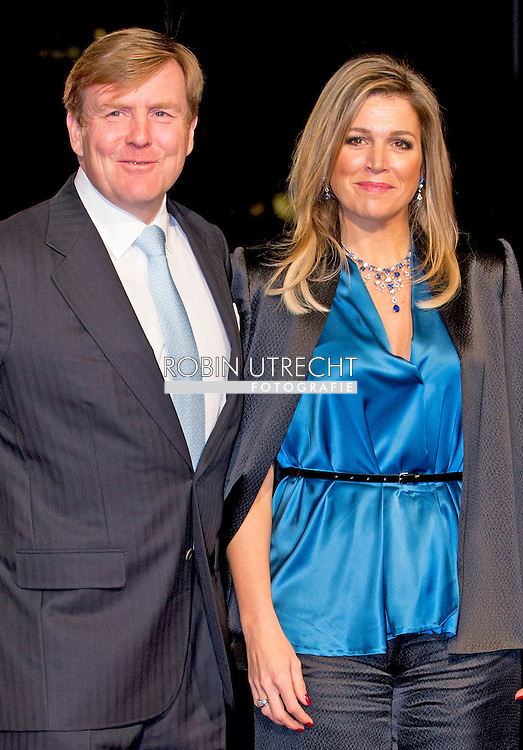UTRECHT - Queen Maxima and King Willem-Alexander arrive in Utrecht for Dutch royal family attend the 75th birthday anniversary of Pieter van Vollenhoven and the 25th jubilee of the Fonds Slachtofferhulp (Victim Fund) in Utrecht. COPYRIGHT ROBIN UTRECHT