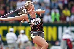 Olympic Trials Eugene 2012: women's Javelin, Haley Crouser, national high school record-holder