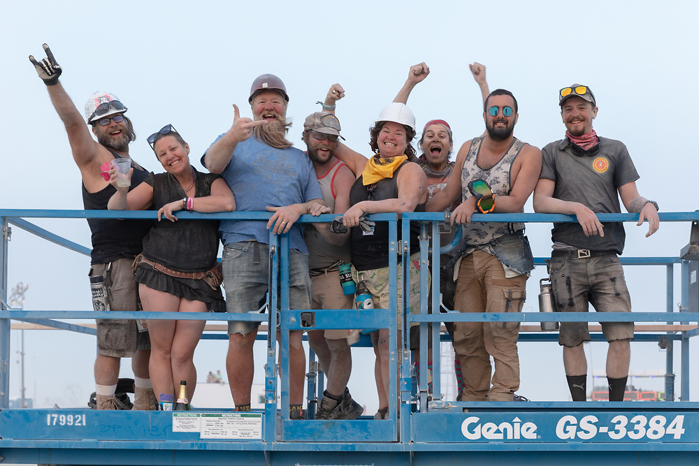 They look happy to be done building the man base. My Burning Man 2018 Photos:<br />