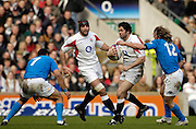Twickenham, GREAT BRITAIN, Andy FARRELL Breaking through, during the  England vs Italy, Six Nations Rugby match,  played at the  RFU Twickenham Stadium on Sat 10.02.2007  [Photo, Peter Spurrier/Intersport-images].....