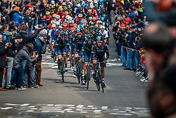 Peloton with KENNAUGH Peter of Team Sky during the UCI WorldTour 103rd Liège-Bastogne-Liège from Liège to Ans with 258 km of racing at Cote de Saint-Roch, Belgium, 23 April 2017. Photo by Pim Nijland / PelotonPhotos.com | All photos usage must carry mandatory copyright credit (Peloton Photos | Pim Nijland)